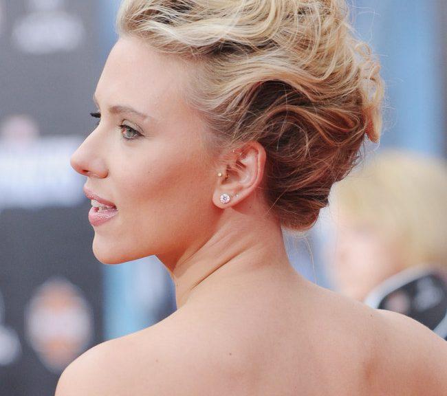 Chignon per Scarlett Johansson