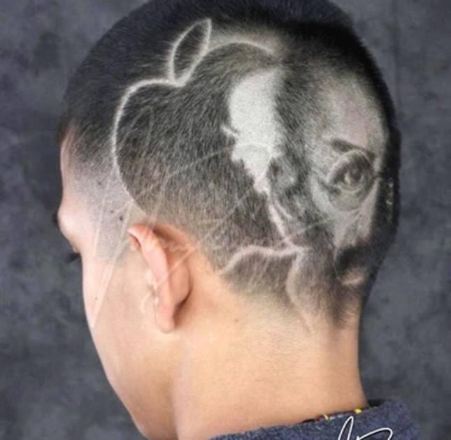 taglio di capelli dedicato a steve jobs